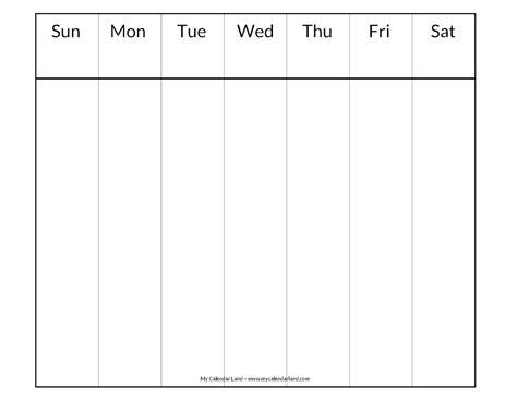 blank weekly calendar template blank calendar printable my calendar land