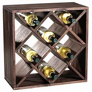 Etagere A Bouteille : etag re carr pour bouteilles vin 12 compartiments ~ Farleysfitness.com Idées de Décoration