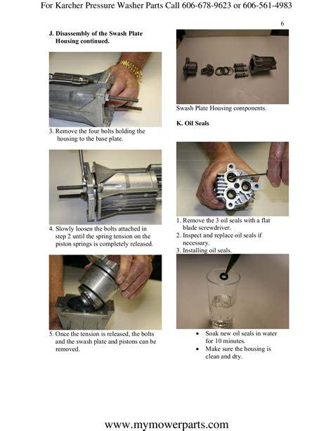 karcher pressure washer repair manual