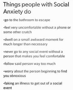 1000+ Anxiety Q... Funny Social Anxiety Quotes