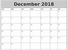 December 2018 Printable Calendar [Free]* Printable