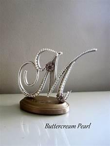 custom wedding cake topper monogram letter m vintage With letter m wedding cake topper