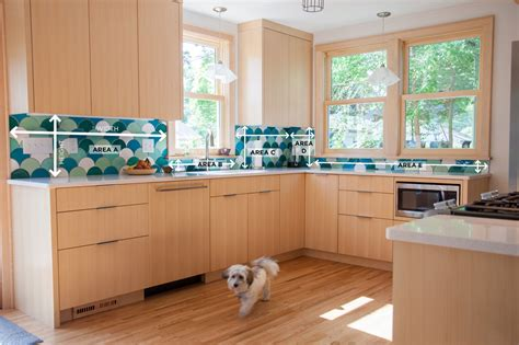 how to a backsplash in your kitchen how to measure your kitchen backsplash