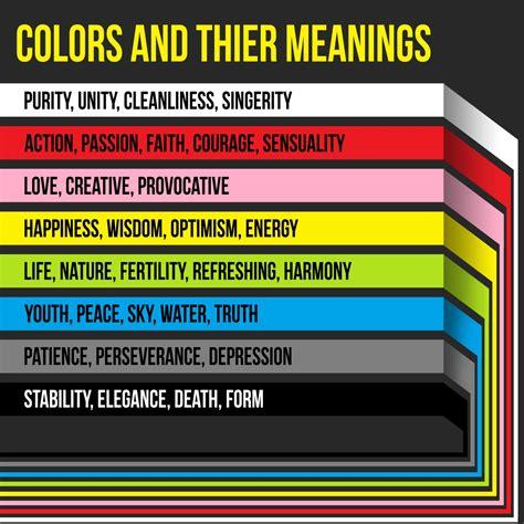 colors and their meanings colors and their meanings visual ly
