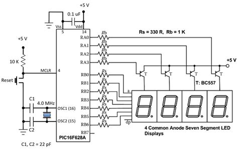 Lab Multiplexing Seven Segment Led Displays Embedded