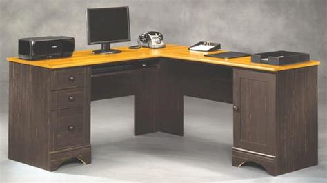 sauder harbor view corner computer desk curado cherry finish sauder harbor view corner computer desk with hutch sauder