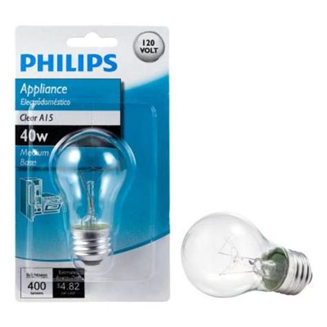 philips 40 watt incandescent a15 clear appliance light