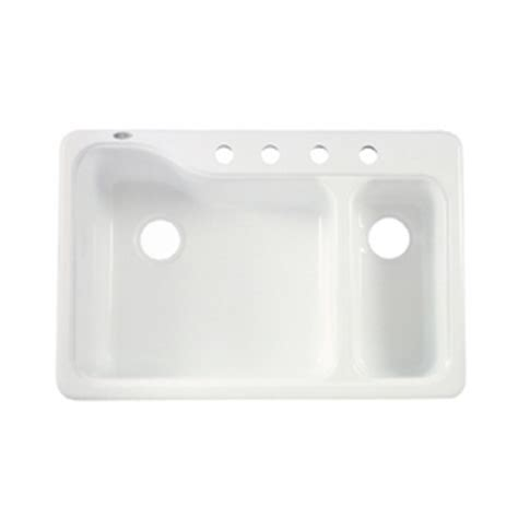 american standard porcelain kitchen sink shop american standard white heat 4 basin 7443