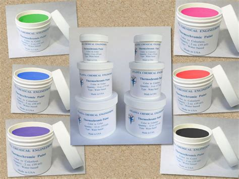 thermochromic paint temperature activated color changing