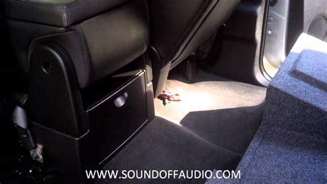chevy  gmc crew cab amp rack subwoofer box