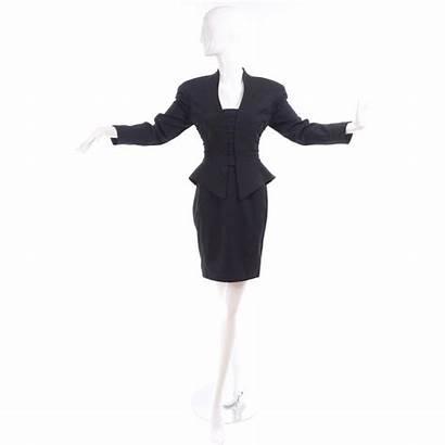 Skirt Peplum Suit Pencil Jacket Thierry Mugler