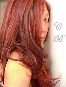 Close Up Of My Color Chart Of Dark Auburn Red Hair Color ...