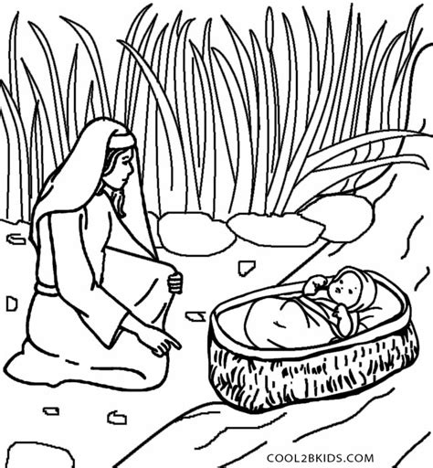 HD wallpapers coloring page of baby moses