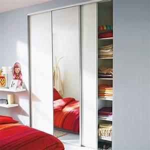 Porte Coulissante Placard Miroir : porte placard coulissante 250 x 200 patcha ~ Melissatoandfro.com Idées de Décoration