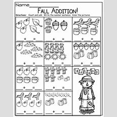 Simple Addition Sentences For Fall!  Kinderland Collaborative  Pinterest  Simple Addition