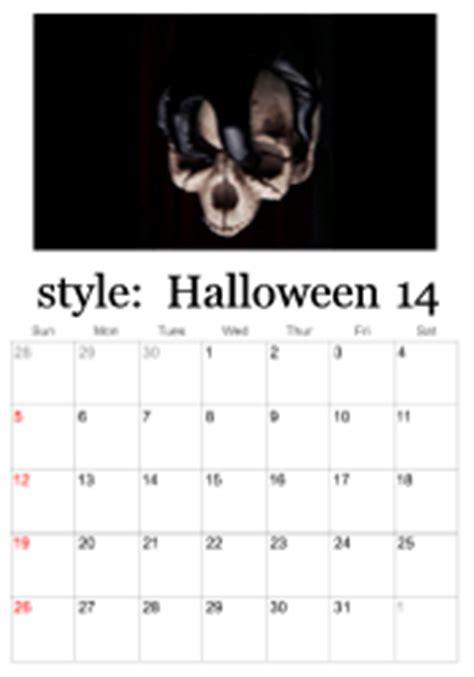 printable halloween calendars october calendars