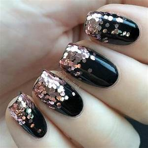 Best 25+ Rose gold glitter nails ideas on Pinterest   Rose gold nails Pretty nails and Acrylic ...