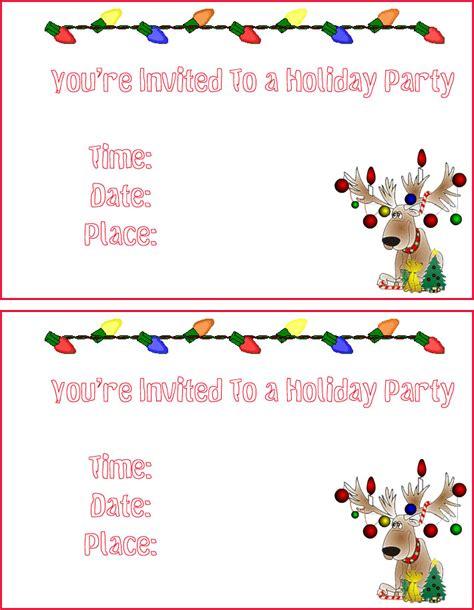 free holiday party invitations free Christmas invitations