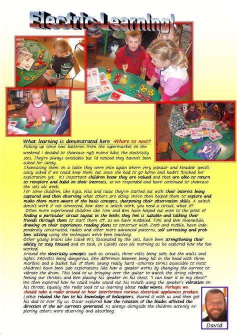 image result  ece learning stories  template