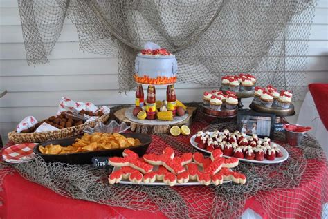crawfish bridal wedding shower party ideas photo 1 of 13