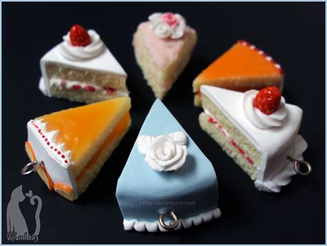 polymer clay assorted cakes  talty  deviantart