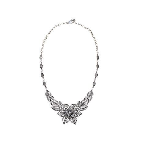 ottoman silver jewelry collection flower  necklace