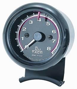 Equus 6086 2 1 2 Mini Tachometer Black