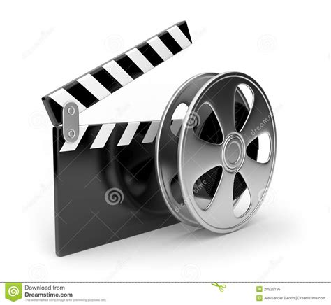 Film And Clap Board Movies Symbol 3d Stock Illustration