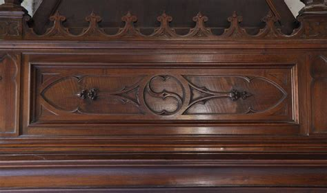 Large Antique Neo Gothic Style  Ee  Fireplace Ee   Made Out Of