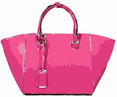 Clipart Handbag Transparent Pink Leather Bag Satchel