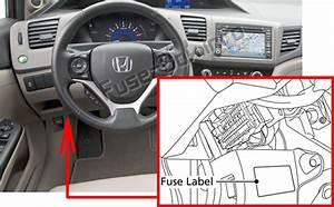 Fuse Box Diagram  U0026gt  Honda Civic  2012