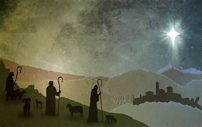 Shepherds Shepherd Christmas Eve Glory God Background