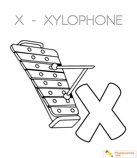 xylophone coloring page     xylophone