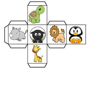 Ideas de juegos educativos que los niños podrán realizar mientras se divierten aprendiendo. Juego: Dado animal | Animais, Atividades