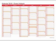 Kalender 2019 zum Ausdrucken iKalenderorg