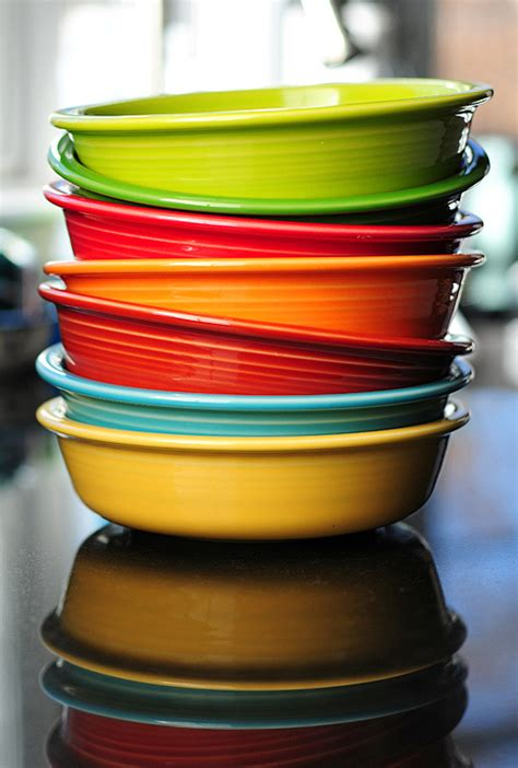 fiesta fiestaware dinnerware ware colors dishes bowl kitchen bowls mexican shewearsmanyhats plates wear match colorful kitchens mix wears hats many