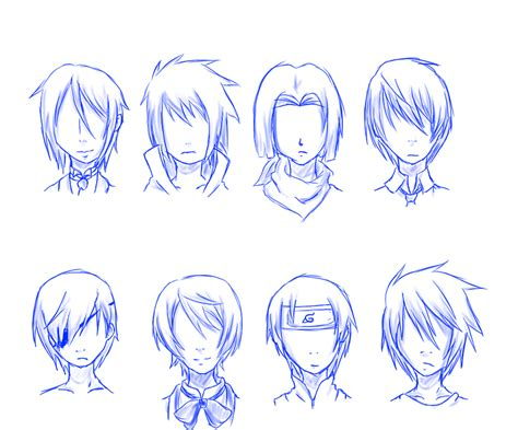 anime male hair drawing  getdrawings