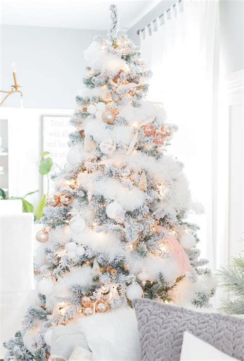 top white christmas tree decorations christmas