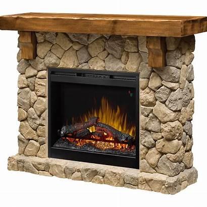 Mantel Fireplace Electric Dimplex Fieldstone Stone Fireplaces