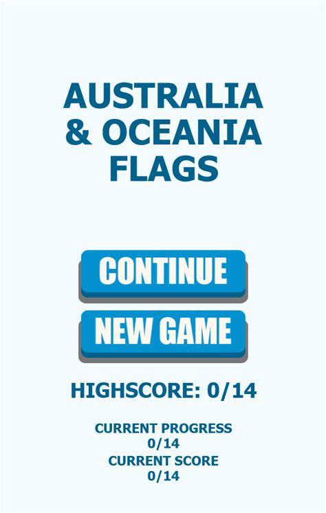 oceania quiz flags australia game