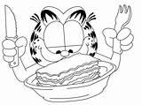 Lasagna Garfield Desene Coloring Colorat Drawing Copii Template Sketch sketch template