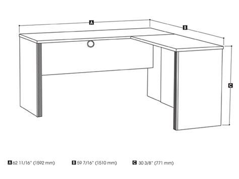 prestige plus l shaped deskby bestar smart furniture