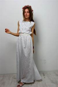 maxi dress evening white dress crochet split sundress With sundress wedding dress