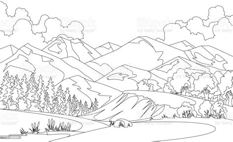 Ilustración de Ilustración Vectorial Para Colorear De