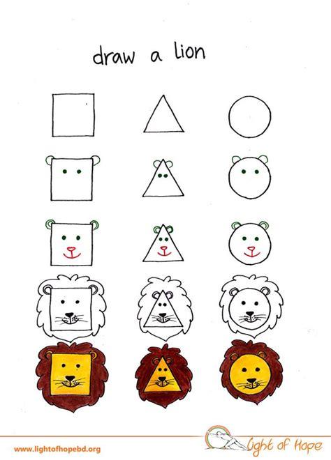 triangle square  circle  draw  animal