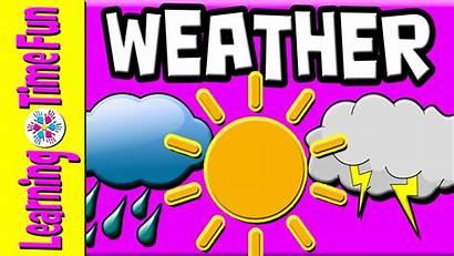 Weather Types Clipart Children Learn English Kindergarten