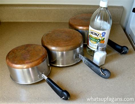 clean copper pots