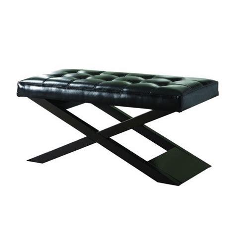 Black X Bench by Trent Home X Bench Ottoman In Black 4739bk