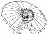 Coloring Skull Dead Printable Muertos Dia Los Parade Sheets Enlarge Cool Filminspector Wenchkin Flats Popular sketch template