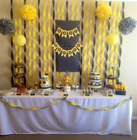 baby boy shower themes decorations bee baby shower by baby ideas neutral theme